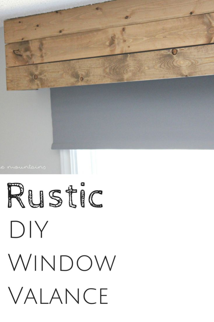You'll never believe how simple it is to whip up this perfectly rustic DIY Window Valance in just minutes!