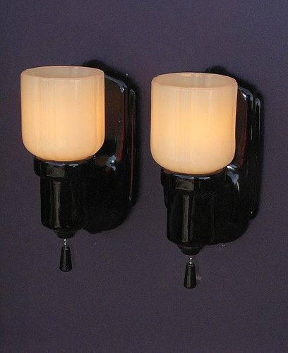 Bathroom Wall Sconces Black : 1000+ images about Vintage Bathroom Light Fixtures on Pinterest Wall lighting, Subway tile ...