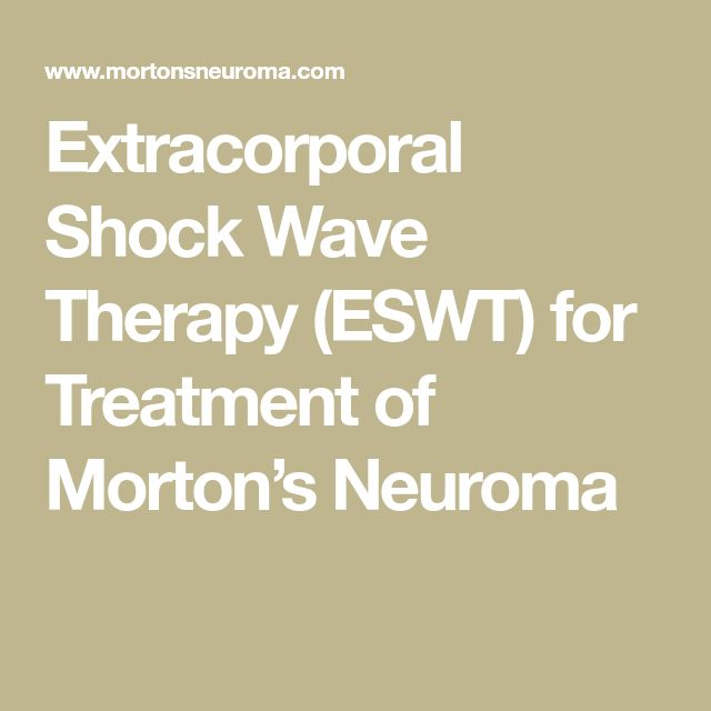 Extracorporal Shock Wave Therapy (ESWT) for Treatment of Morton's Neuroma