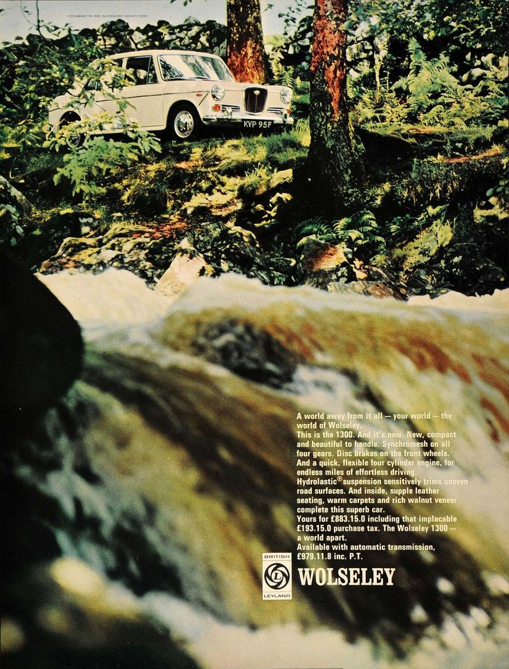 1968 Ad Wolseley 1300 White British Car Automobile UK - ORIGINAL ADVERTISING LN1