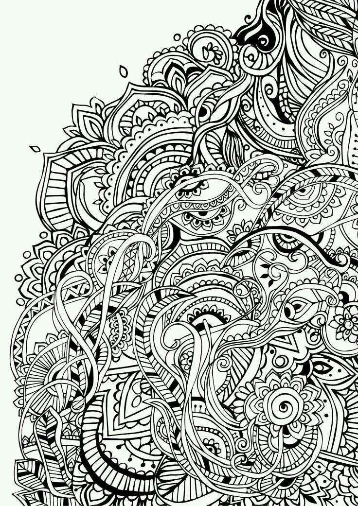 Раскраска антистресс - узоры - красивые орнаменты
