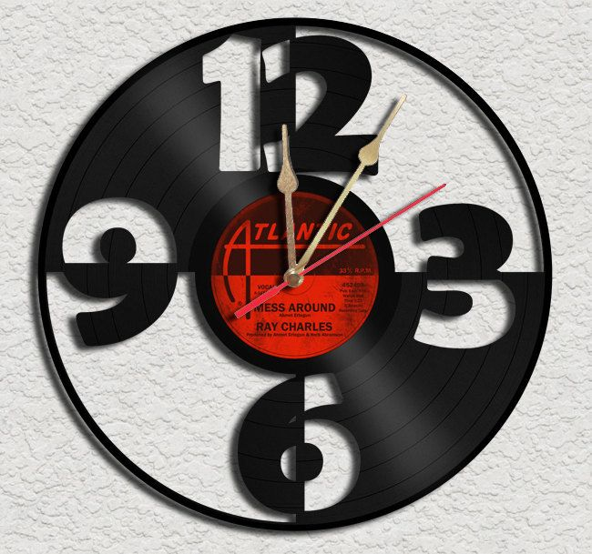 Big Numbers Vinyl Record Clock