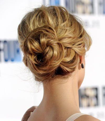 more messy buns: Bridesmaid Hair, Buns Hairstyles, Dianna Agron, Wedding Updo, Prom Hair, Wedding Hairs, Messy Buns, Hair Style, Loose Buns