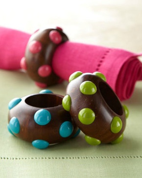 Wood Bead Napkin Ring eclectic napkin rings