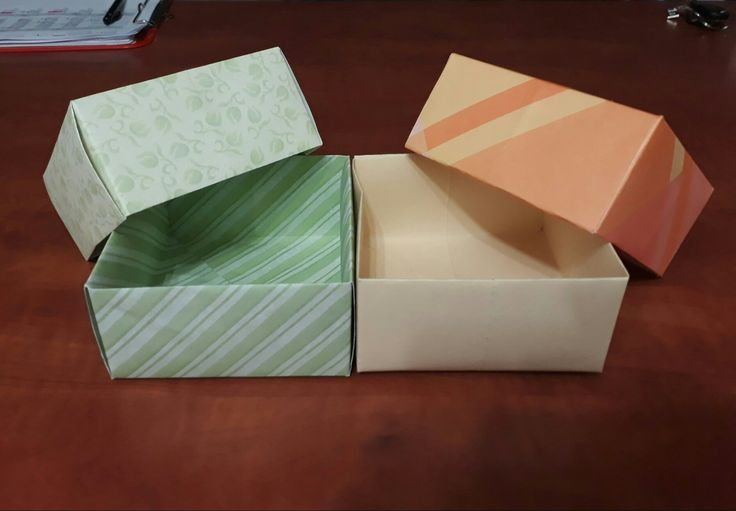 Little gift boxes made from scrapbook paper