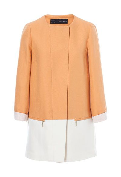 TWO - TONE COMBINATION COAT - Blazers - Woman | ZARA United States