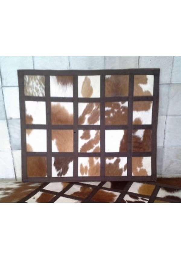 Genuine Nguni placemats, Placemats made of blocks of genuine nguni.
