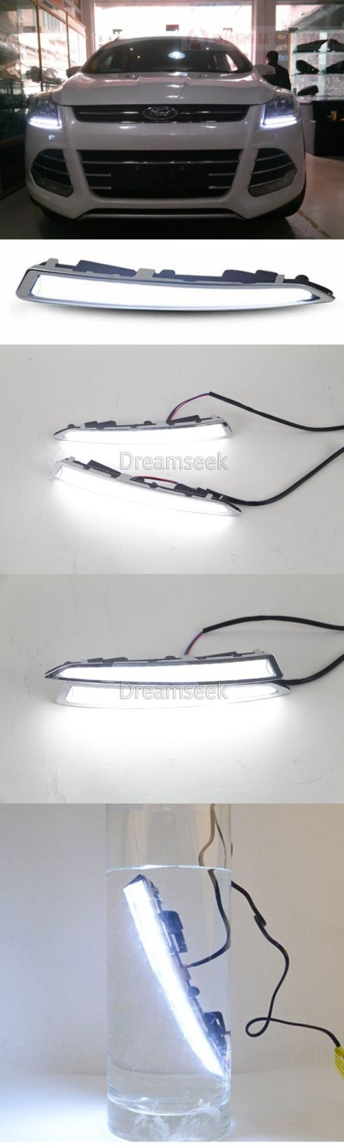 Motors parts and accessories drl for ford kuga escape 2013 2014 2015 2016 led daytime