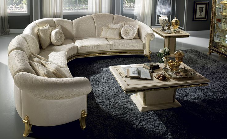 Raffaello Rollection Living Room, Corner Sofa http://www.arredoclassic.com/living-room/corner-sofas-raffaello