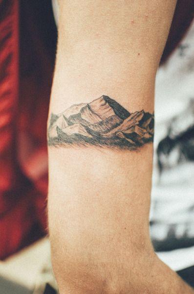 #mountains #tattoo #inkedandpainted