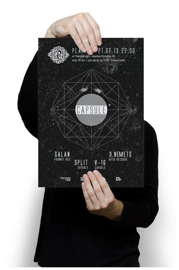 Poster for capsule techno-party on Behance: