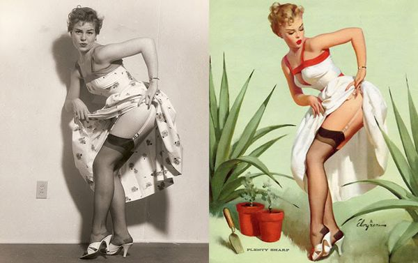 Pin Up Girls: Before and After