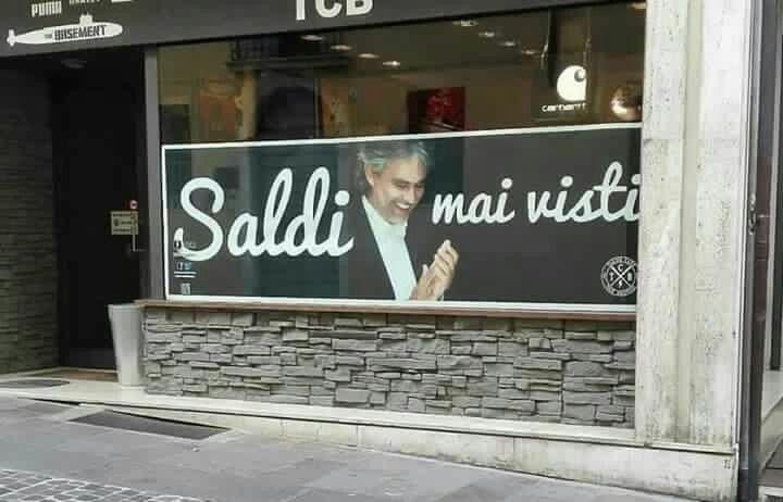 #bocelli #saldi #shopping #negozi