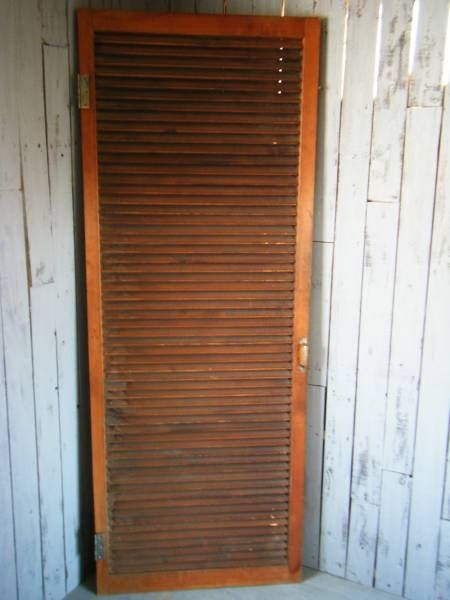 Door M1951アンティーク横格子戸建具開きドア扉木製洋館中玄関 インテリア 雑貨 家具 Antique ¥5000yen 〆08月25日
