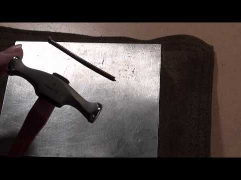 Jewelry Artist and Teacher, Melissa Muir, demonstrates and discusses how metal moves based on which hammer you use and how you strike the metal.
