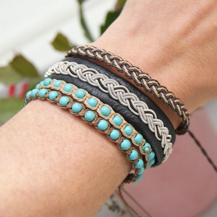 macrame bracelets, boho style jewelry, boho bracelet, sami lapland bracelet, sami sweden jewelry, bransoletki makrama, styl boho