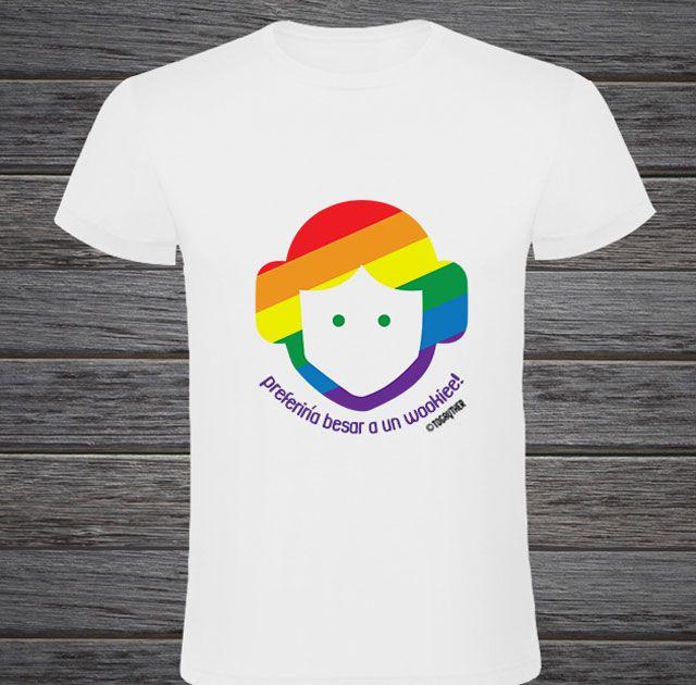 """#Camiseta #Gay #Leia con frase: """"Preferiría besar a un wookiee!"""" Este y más producto en http://www.togayther.es/tienda-gay/"""