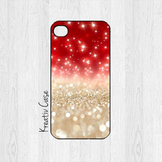 Glittery Christmas Phone Case - 27 Cute Christmas iPhone Cases