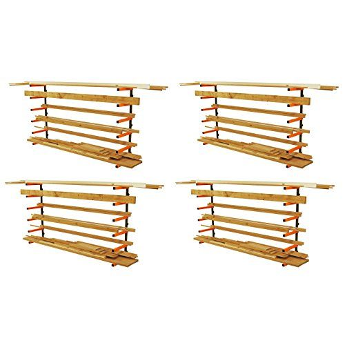 The Port-A-Mate #PBR-001 the 6-Shelf #Wood Storage Rack features a multi-purpose racking system for providing the user with generous storage capacity for wood, pi...