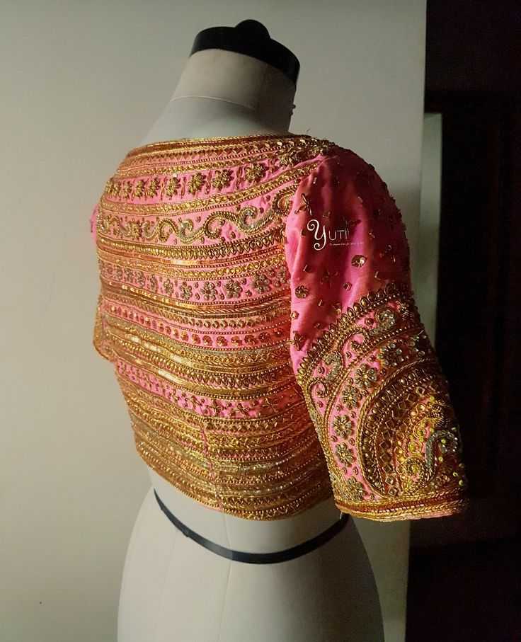 Pink makes everything pretty  add gold to make it prettier! A neon pink bridal blouse hand embroidered with zardosi  beads and every possible element in gold! <br> For Price and Other details reach  at 044-42179088 or Whatsapp: 7010905260Address: 21  Valmiki  street  Thiruvanmyur  Chennai.  15 June 2017