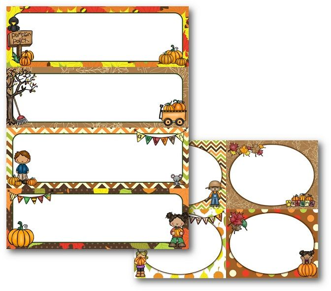 Free Fall Cubby Tags - ePre-K