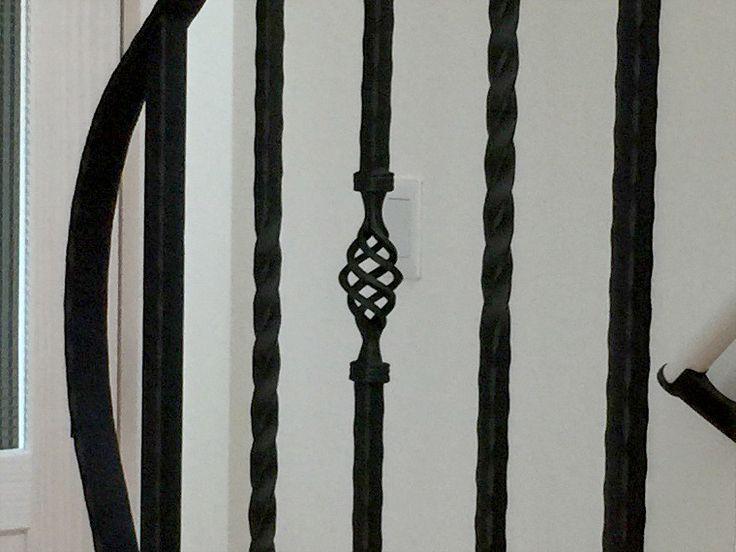 ロートアイアン階段手摺   アイアン工房