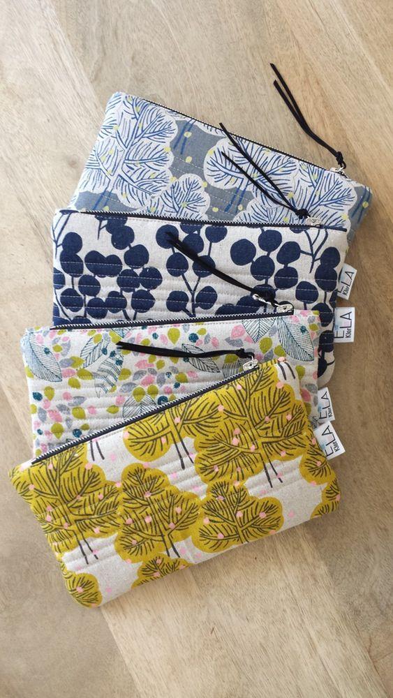Image of Pochette tissu japonais