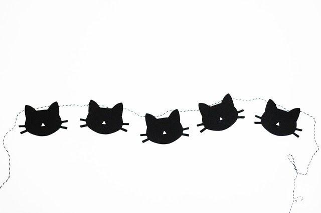 Cat Garland + printable                                                                                                                                                                                 Más