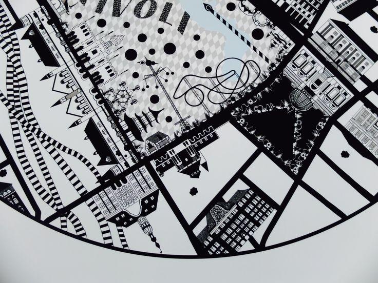 Detail of Vesterport Map Tivoli