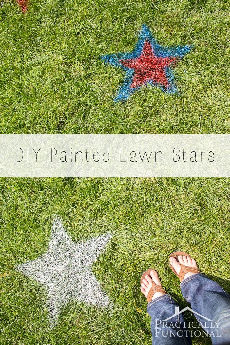 These spray painted lawn stars are the perfect outdoor 4th of July decorations! They're so quick and easy to do.