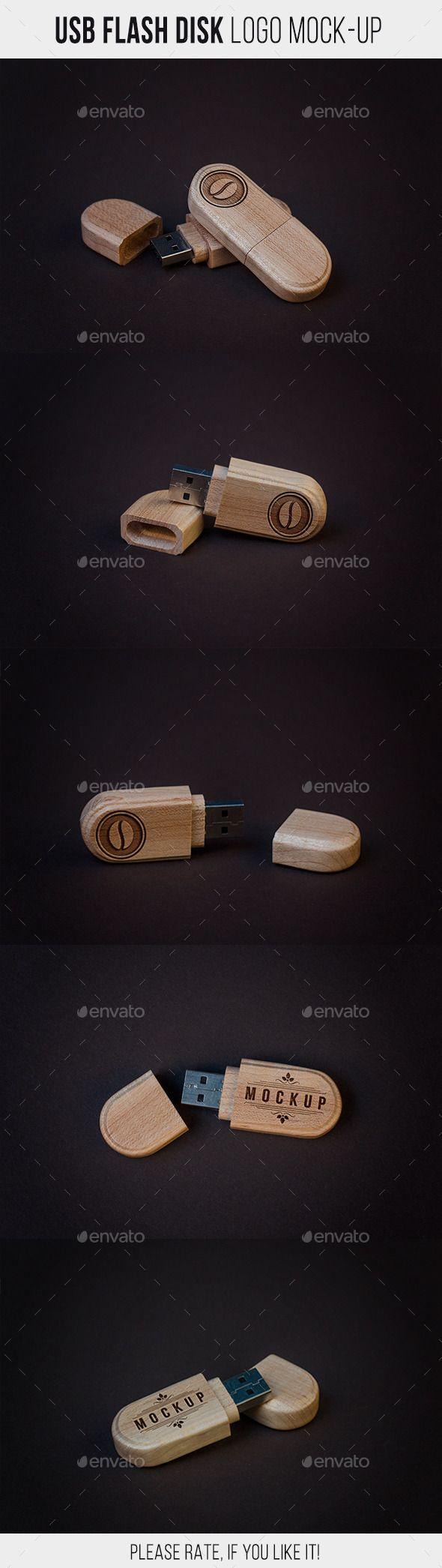 USB Flash Disk Logo Mock-Up
