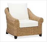 Holbrook Woven Seagrass Armchair, Honey