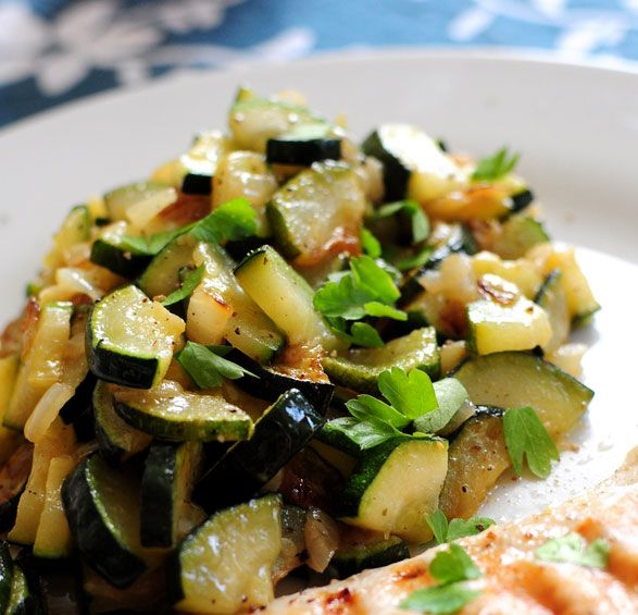 Sauteed Zucchinis Recipe (Pan Fried Zucchinis), by Eat Well 101. #sauteed #zucchini #eatwell101