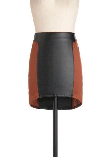 A Rusted Development Skirt, #ModCloth