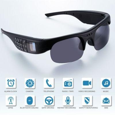 New Fashion Smart Glasses Wireless Bluetooth Headphones MP3 Player Eyewear Phone Camera Sunglasses US Plug | cndirect.com