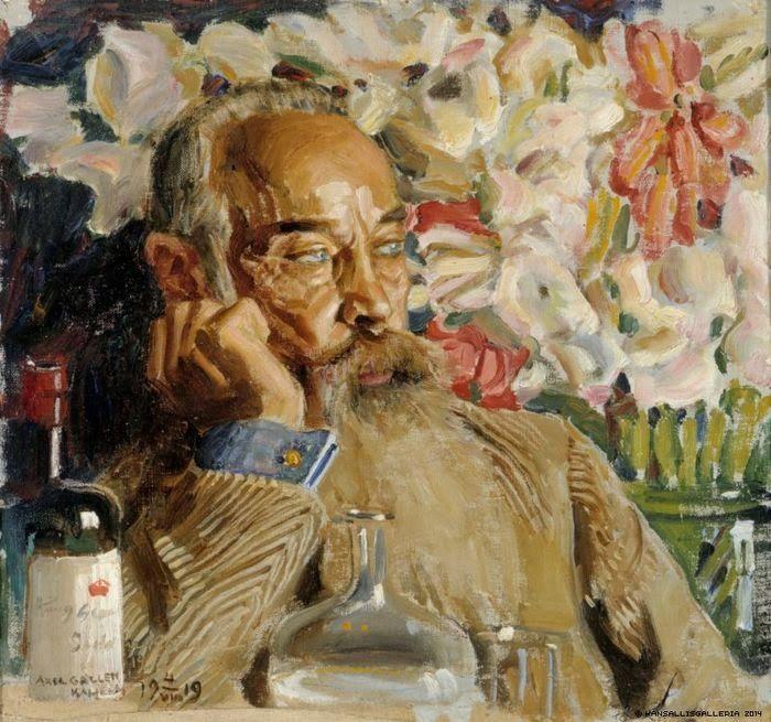 Akseli Gallen-Kallela (26 aprilie 1865 - 7 martie 1931), pictor şi grafician finlandez - Portrait of Sigurd Wettenhovi-Aspa