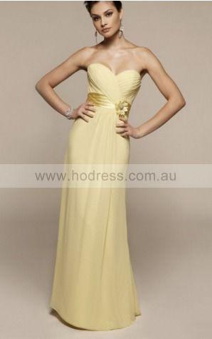 Sheath Sweetheart Floor-length Chiffon Natural Evening Dresses gt1359--Hodress