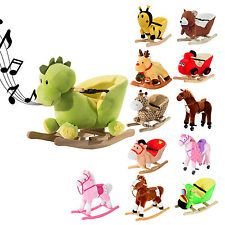 Schaukelpferd Plüsch Schaukeltier Pferd Lieder Spielzeug Kinder Baby 18 Modelle