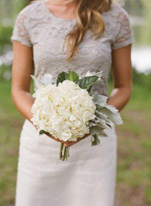 hydrangea + lambs ear bouquet