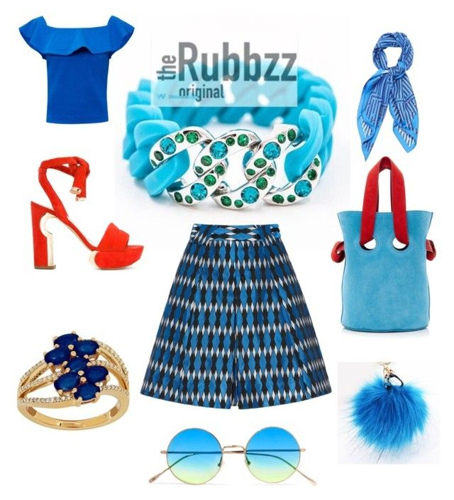 The Rubbzz Original in Giotto Blue and Swarovski crystals. Symphony in blue for S/S 2017. by therubbzzoriginal on Polyvore featuring polyvore, fashion, style, Ted Baker, Nicholas Kirkwood, Lord & Taylor, Illesteva, Hermès and clothing