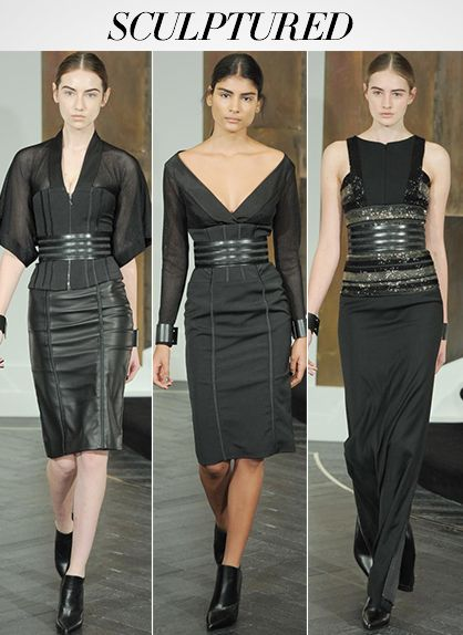 F/W 14: Sculptured waist defining looks