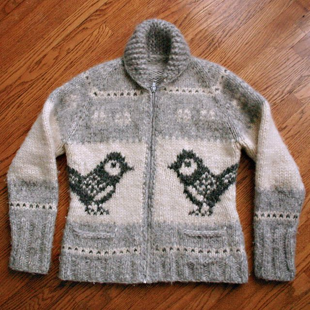 andifitz's chickadee cowichan, We grew up in these sweaters, but called them Siwash sweaters. Mom actually spun the wool herself.