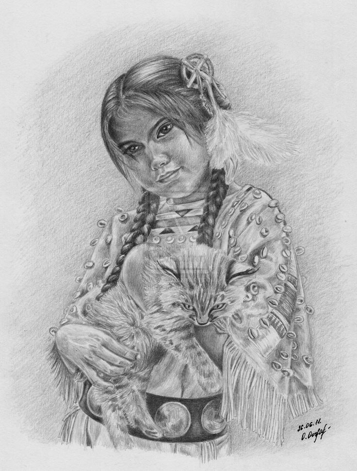 Native American girl by Worldinsideartdeviantart