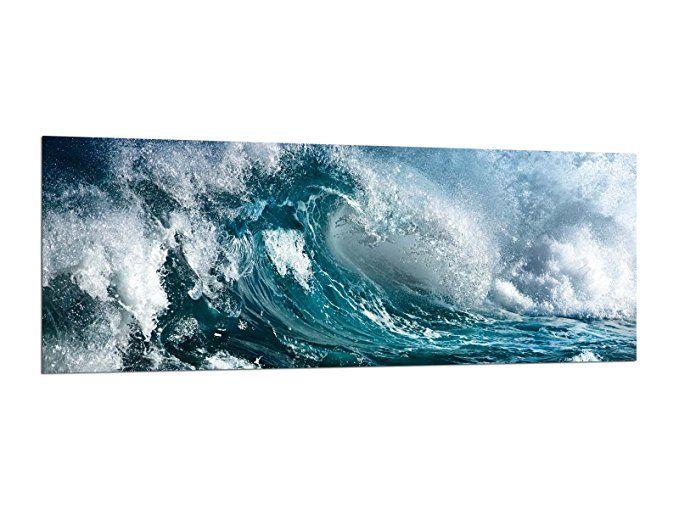 Glasbilder Wandbilder 125 X 50cm Ozean Wellen Ag312502467 Deco