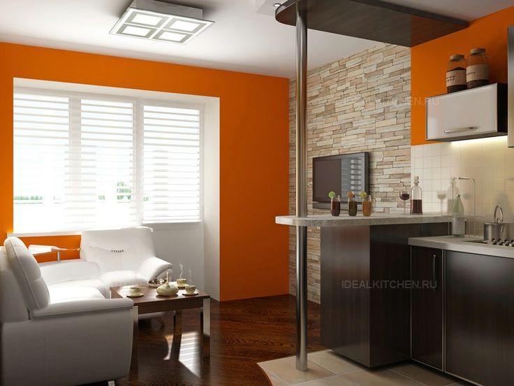 Оранжевая кухня – мебель, аксессуары, фото