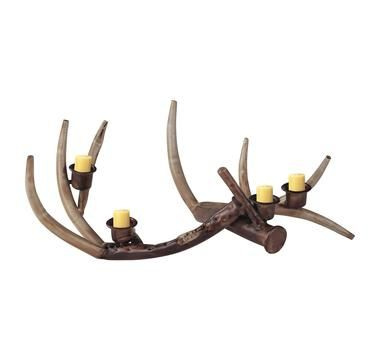 Great Metal Antler Shaped Candleholder With Bronze Finished Accents. Product:  CandleholderConstruction Material: MetalColor: Bronze And  NaturalAccommodates: ... Design Inspirations