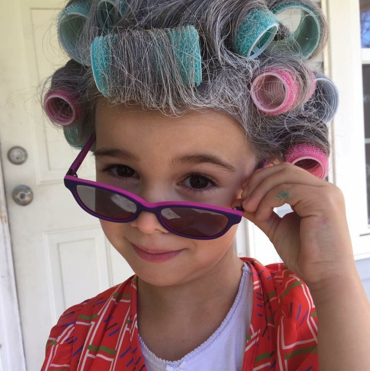 Old lady hair for 100th day of school