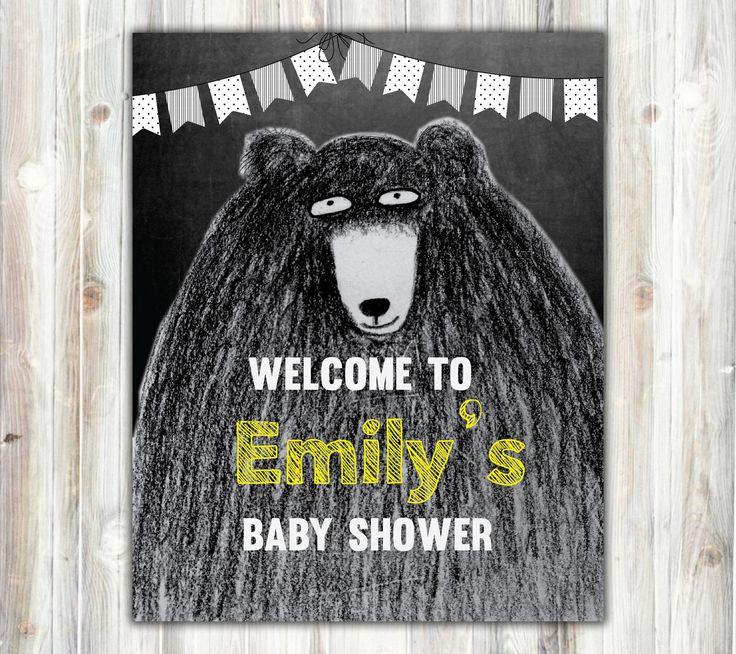 black teddy bear baby shower, Yellow, black and white, hands drawing, baby, fall baby #Yellow #BlackAndWhite #BabyShower #BlackTeddyBear #PokaDotFlag #TeddyBearBaby #ChalkboardSign #BabyShowerSign #DoorSign #BabyShowerDoor #ChalkboardPoster #TeddyBearPoster #GreyscaleTeddyBear