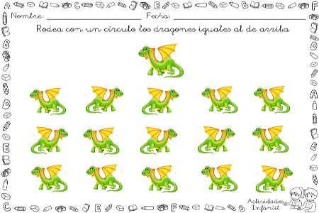 Trabajando la direccionalidad con los peques con ayuda de unos simpáticos dragones » Actividades infantil