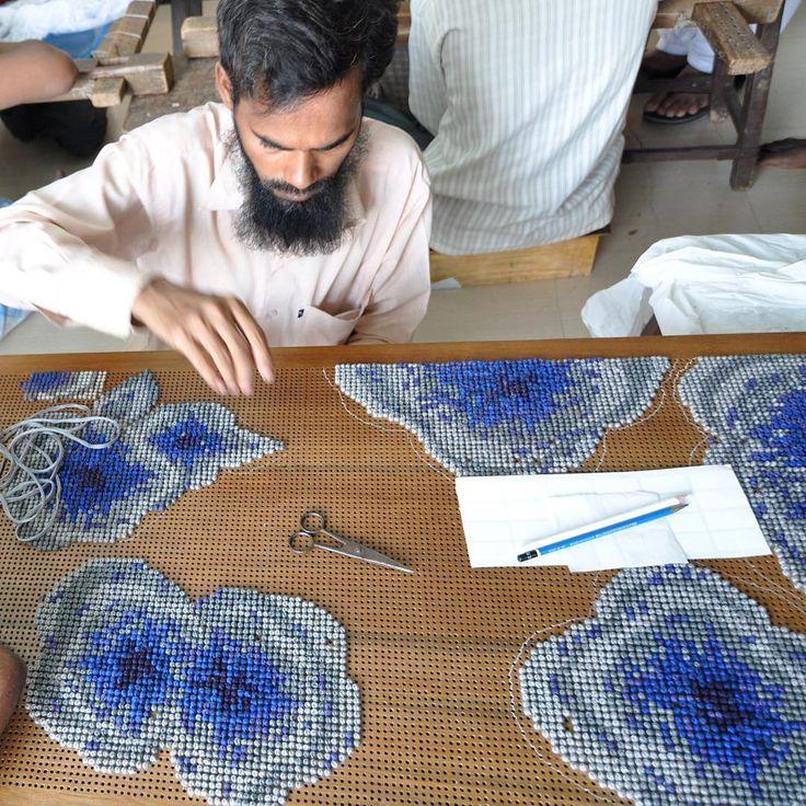 The making of #embroideredwood #tbt #workinprogress #handmade #embroidery #madeinindia #furniture #design #celebratingcraftsmanship #rooshadshroff